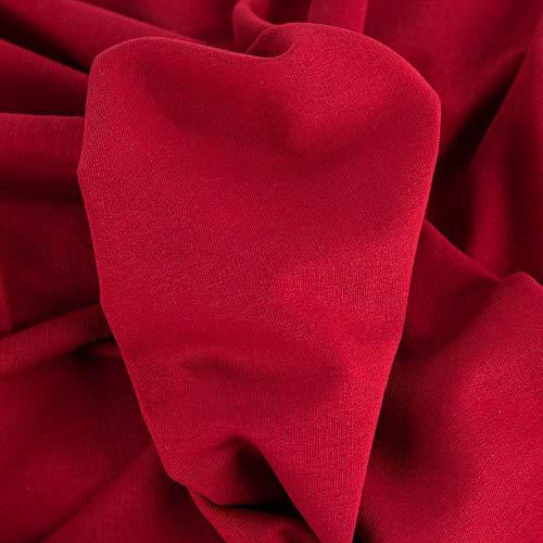 Brittschens Stoffe und Zutaten Stoff Sommersweat French Terry   Uni   Stoff zum nähen Meterware   Maike von Swafing (sattes rot)