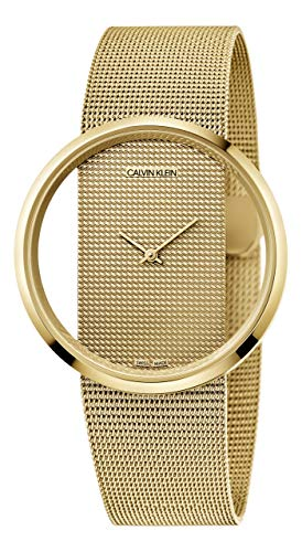 Calvin Klein Damen-Uhren Analog Quarz One Size Gold Milanaise Armband 32012762