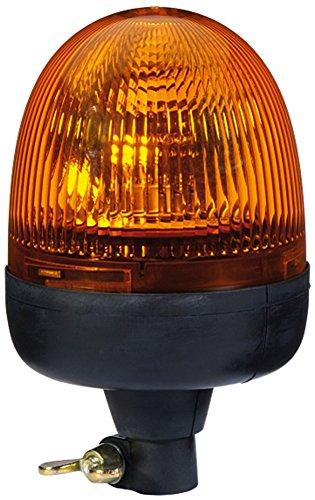 HELLA 2RL 009 506-001 Rundumkennleuchte - Rota Compact - Halogen - H1 - 12V - Lichtscheibenfarbe: gelb - Rohrstutzen, flexibel - Menge: 1