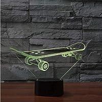 3DLEDスポーツスケートボードUSBナイトライト子供のおもちゃギフト寝室ナイトスリープライトムードテーブルランプの装飾