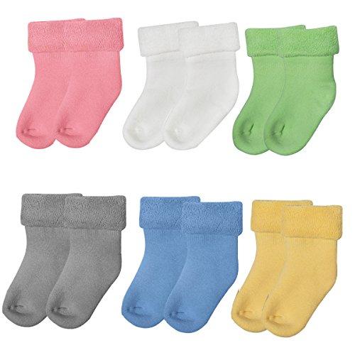 6 Pares Calcetines Bebé Unisex