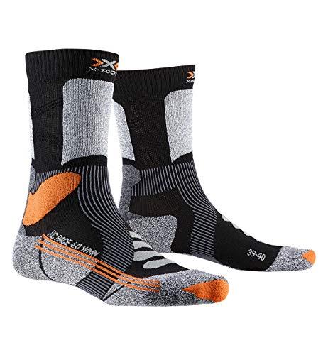 X-Socks X-Country Race 4.0, Calze Invernali Donna, Black/Stone Grey Melange, M