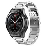 PINHEN Correa de Repuesto para Reloj Huawei Watch GT - 22mm Correa de Reloj de Acero Inoxidable Correa de liberación rápida para Huawei Watch GT2 46mm/ Magic Watch 2 46mm (Silver)