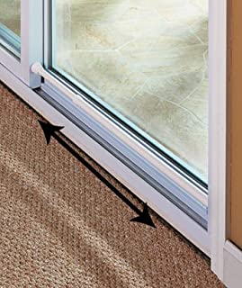Sliding Glass Door Security Bar White Color - Feel Safe At Home with These Adjustable Home Security Bar 1-1/2