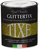 TIXE Glittertix Glitter per Pittura, Vernice, Argento, 250 ml...