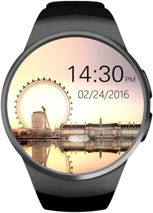 North King Elegante Reloj Redondo Pantalla Bluetooth Pulso Monitor Fitness Tracker