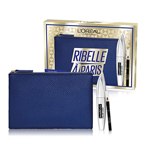 L'Oréal Paris Idea Regalo Donna Natale 2020, Pochette con Mascara Incurvante Bambi Eye e Matita...