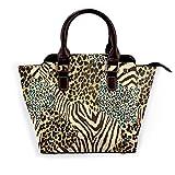 Bolsos de mujer Bolso de mano Animal Zebra Tiger Print 01 Bolso de hombro Impreso en 3D Bolsos sin decoloración Bolso de mano impermeable para mujer Bolso de viaje multifuncional duradero co