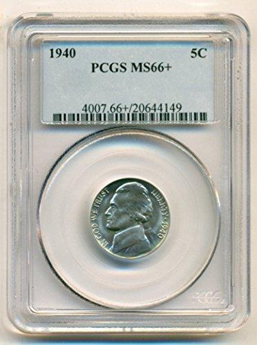 1940 Jefferson Nickel MS66+ PCGS