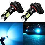 Alla Lighting 2000 Lumens High Power 3030 36-SMD Extremely Super Bright 8000K Ice Blue H10 9040 9140 9045 9145 LED Bulbs for Fog Driving Light Lamps Replacement