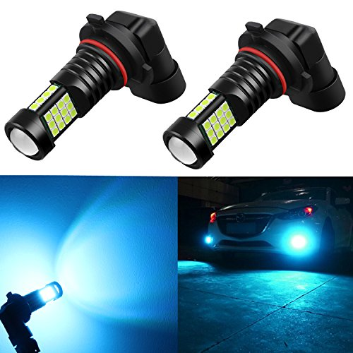 Alla Lighting 2000Lms PY20D Base H10 9145 LED Fog Light Bulbs 9140 9155, 8000K Ice Blue High Power...