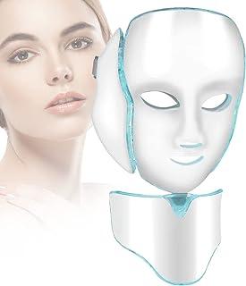 7 kleuren led masker gezicht machine, huis professionele schoonheid gezicht nek anti rimpel verwijdering huidverjonging ma...