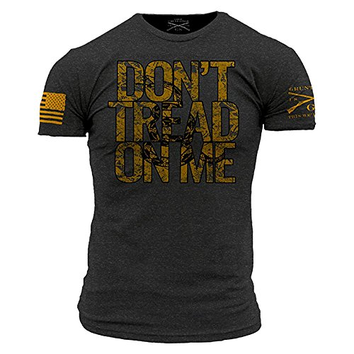 Grunt Style Don't Tread On Me Men's T-Shirt, Color Charcoal, Size X-Large