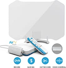 AirTV Player with Dual-Tuner Local TV Adaptor and ANTOP AT-133B 50 Miles Amplified HDTV Antenna Bundles with Dual DVR Capable and Voice-Search-Compatible Remote