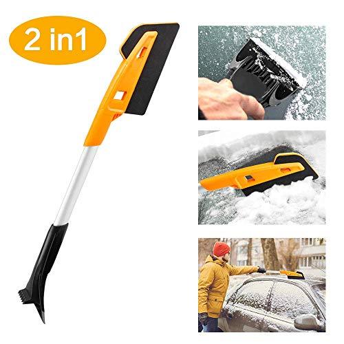 Rasqueta de hielo Ykop, rasqueta de hielo para coche, cepillo de nieve, cepillo de nieve extraíble, cepillo de nieve y cepillo de nieve, raspador de hielo automático para coches, camiones, SUV, parabrisas