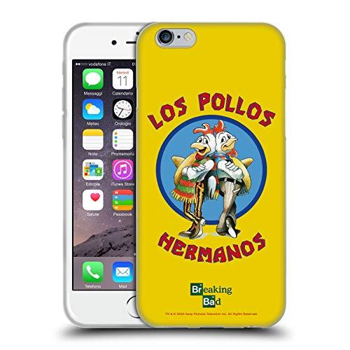 Head Case Designs Licenza Ufficiale Breaking Bad Los Pollos Hermanos Grafiche Cover in Morbido Gel Compatibile con Apple iPhone 6 / iPhone 6s