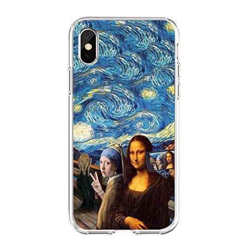 APHT Van Gogh The Starry Night Phone Case Painting Van Gogh Quadro Dipinto Olanda Sunflowers Paint Dipinto Compatibile Protective Case Cover pour Apple iPhone 6-XS/XS Max/XR/248