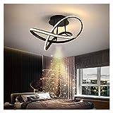 FIRMLEILEI candelabro Negro del Anillo del círculo LED de la lámpara Moderna Lámparas Los LED se Enciende for el Estudio Cocina Comedor Lámparas de Techo del Dormitorio del Sitio Decoración hogareña