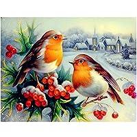 鳥の家の雪のシーン-大人のための1000ピースのジグソーパズル、家族のためのテーマパズルセット、木製パズル、教育ゲーム、子供のための脳チャレンジパズル子供バレンタインデープレゼント