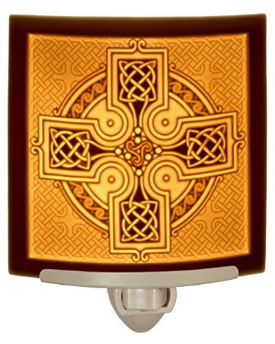 Celtic Cross - Curved Porcelain Lithophane Night Light