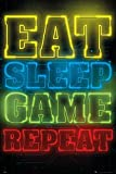 GB Eye, Gaming, Eat Sleep Game Repeat, Maxi Poster 61x91.5cm