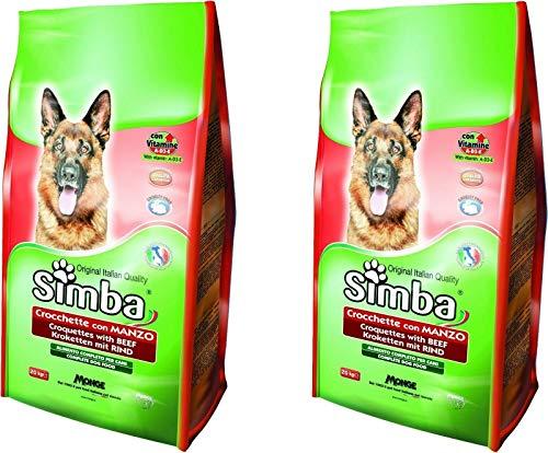 MONGE Simba CROCCHETTE da 20 kg al Manzo per Cani Adulti CROCCANTINI 2 PEZZ