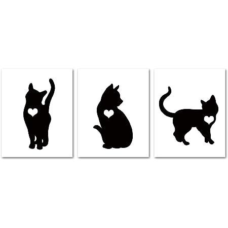 Black Cat Art Print Home Decor Wall Art Poster
