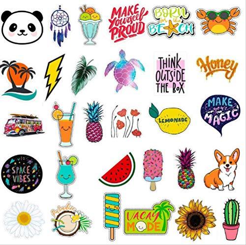 Water Stickers flessen Grote Leuke Waterdichte Mooie Mode Laptop Reistas Esthetische Trendy Stickers voor Tieners 30 Patronen