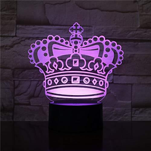 Nur 1 Stück Hübsches Baby Led Nachtlampe Krone Nachtlicht für Kinderbett Zimmer betrieben USB 3d Lampe Mädchen Geburtstagsgeschenk Led Nachtlicht