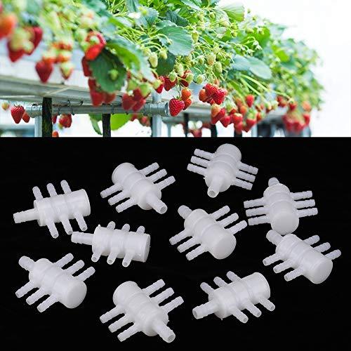 Zwindy Hydroponischer Teiler, praktischer PP-Kunststoff-langlebiger hydroponischer Wasserteiler, für Gartenbedarf Gartenzubehör