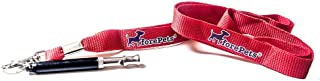 forepets Dog Training Whistle with Red Lanyard to Stop Barking. Professional Silent Adjustable Ultrasonic Tool to Train and Control Poppy Bark