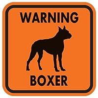 WARNING BOXER マグネットサイン:ボクサー(オレンジ)Lサイズ