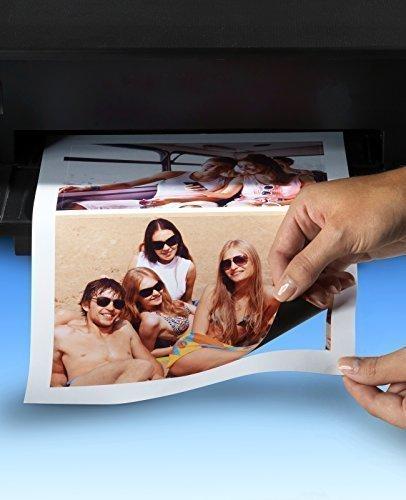 Magnetisches Fotopapier, Format 9x13 cm, 20 Fotos, Magnetfolie für Tintenstrahldrucker, Vorgestanzt auf DIN A4