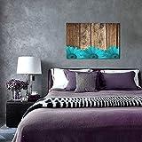 NINEHASA Cuadros Decorativos-Margaritas de madera rústica de granero verde azulado -Decoración Colgante para Paredes de Sala,Dormitorios y Cocina-Arte Mural 30x45cm