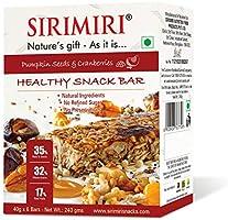 Sirimiri Nutrition Bar - Pumpkin Seeds & Cranberries - Pack Of 6 (Each 40 Gm) No Added Sugar, No Preservative, Gluten Free