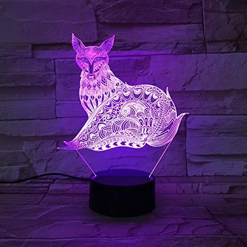 Sanzangtang Led-nachtlampje, 3D-vision-zeven, kleuren-afstandsbediening, dier, nachtlampje, decoratief licht, voor kinderen, babykit, tafel, nachtlampje, slaapkamer, kindernachtlampje voor meisjes