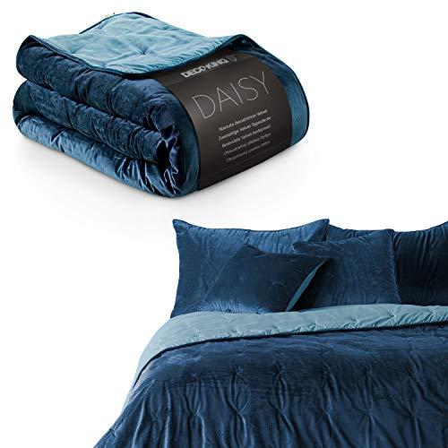 DecoKing Tagesdecke 200 x 220 cm dunkelblau...