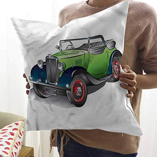 JONINOT Cars Funda de cojín Fundas de cojín Convertibles Dibujadas a Mano para sofá (18 'x18')