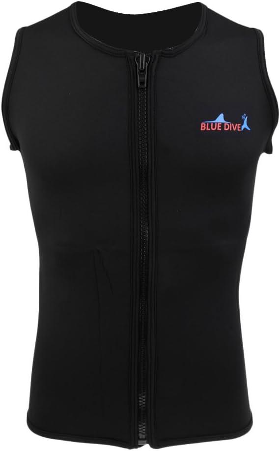 Jili Online Mens Water Sports Quality inspection 2mm Neoprene Surprise price Fr Wetsuit Black Vest