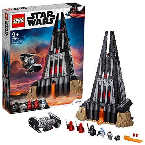 LEGO75251StarWarsCastillodeDarthVader,Juguetedeconstruccióncon5Figuritas,CastilloyNaveEspacialCazaTie