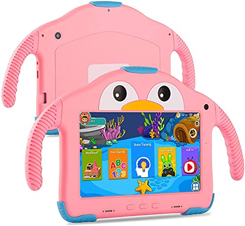 Kids Tablets -TEKXDD 7 Inch Android 10.0 Quad Core 32GB ROM Tablet for...