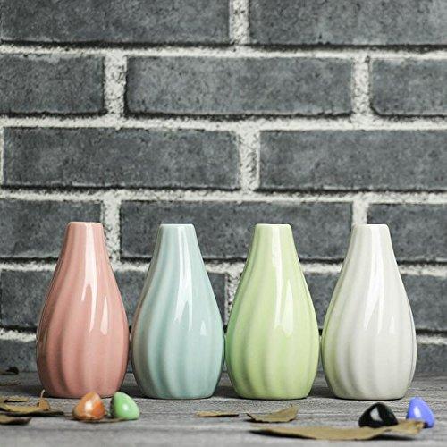 zhudj Bouteille d'huile volatile aromatique bouteilles de céramique Artisanat Home Office Desk Tops Petit Balançoire en bleu rose Vert