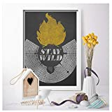 GIRDSS Burning Man Poster Leinwanddrucke Bild Stay Wild