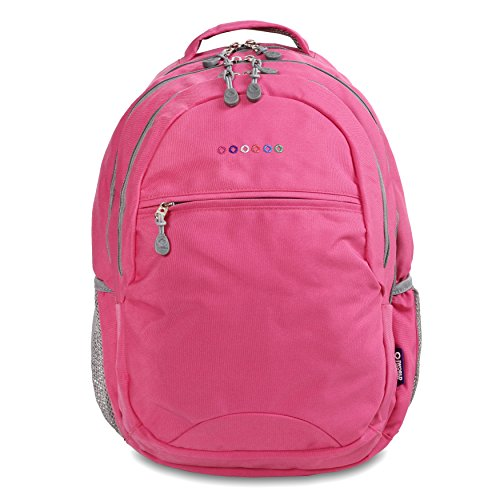 J World New York Cornelia Laptop Backpack Sac à Dos Loisir, 19 cm, 29.5 liters, Multicolore (Pink)