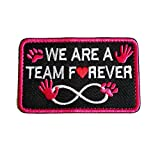 Service Dog We are a Team Forever Vests/Harnesses Emblem Embroidered Fastener Hook & Loop Patch (We are a Team)