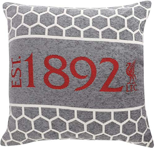 Liverpool FC Chenille Cushion, grey, standard size