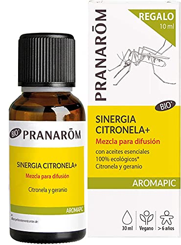 Pranarom Aromapic - Sinergia + Bio - Oferta 20 Ml + 10 Ml Gratuitos (eco), Antimosquitos, Citronela, 30 Mililitro