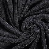 Kuschelfleece – schwarz — Meterware ab 0,5m — zum