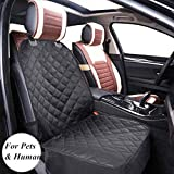 amzdeal Dog Single Car Seat Covers Front, Pet Seat Cover Protector Back Waterproof