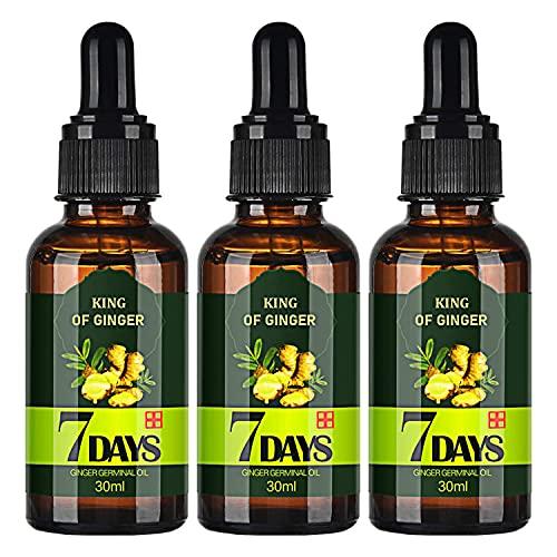 TSSPLUS 3pcs Hair Regrow 7 Day,Ginger Essential Oil ,Ginger...